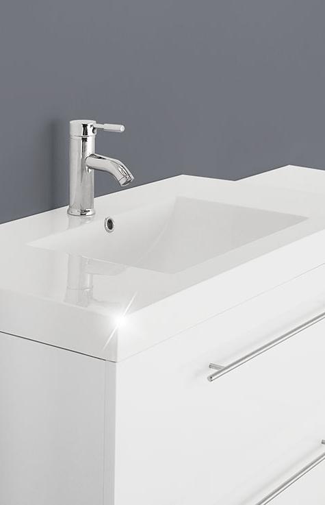 Sam badezimmer z rich deluxe 2tlg wei 90 cm for Badezimmer 90 cm