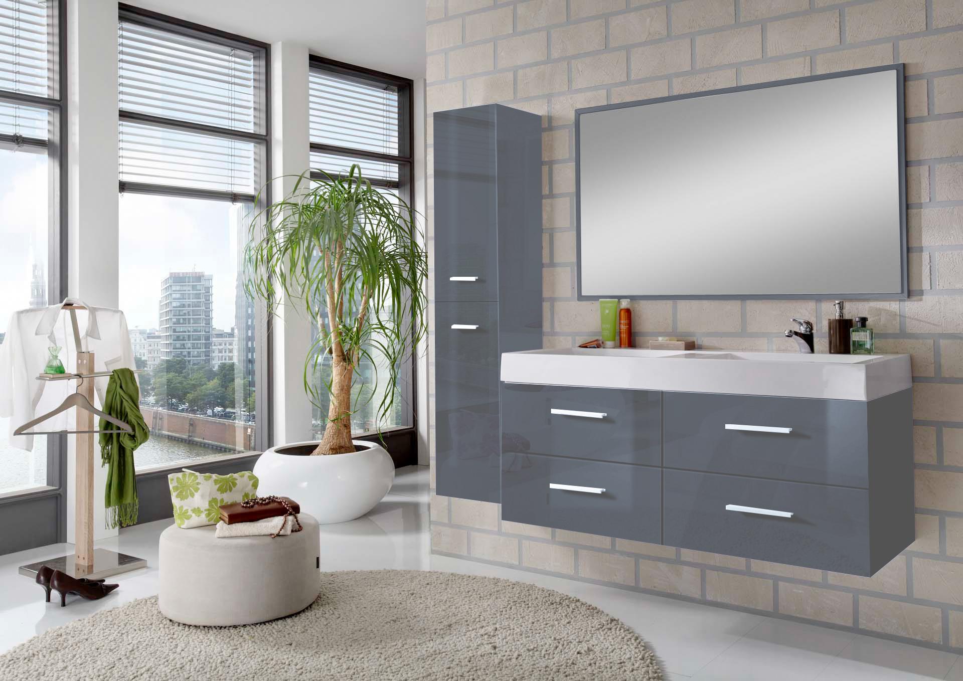 sam badem bel hamburg 3tlg 120 cm hochglanz grau auf lager. Black Bedroom Furniture Sets. Home Design Ideas