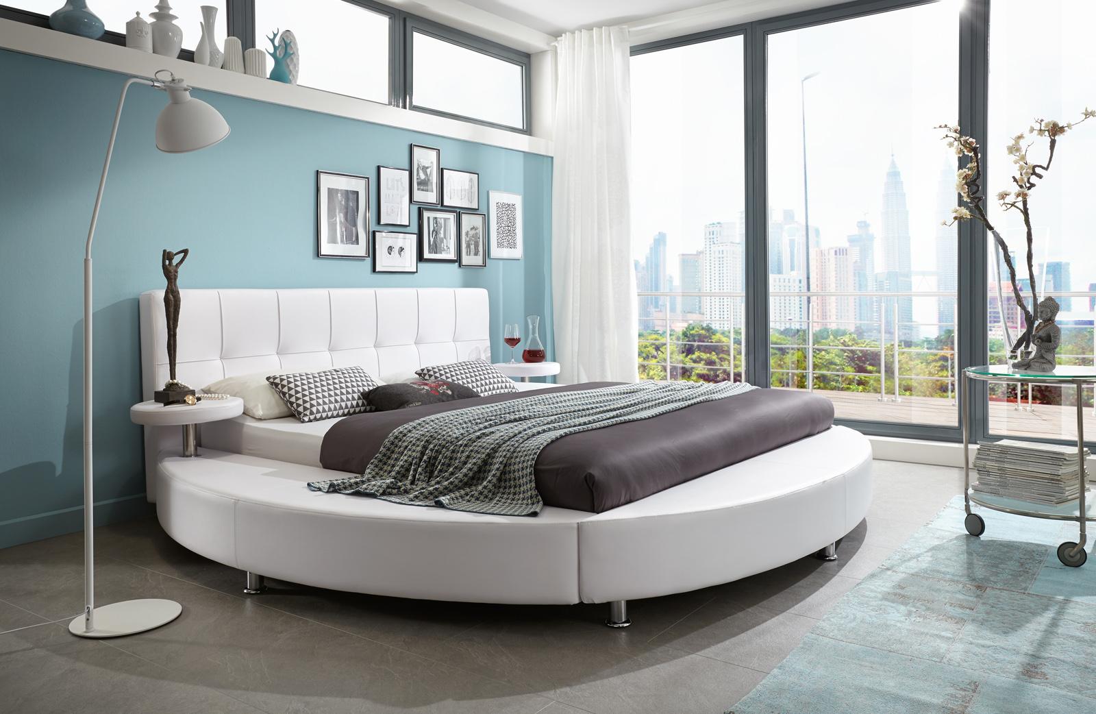 sam g nstiges rundbett 200 cm x 200 cm wei zarah demn chst. Black Bedroom Furniture Sets. Home Design Ideas