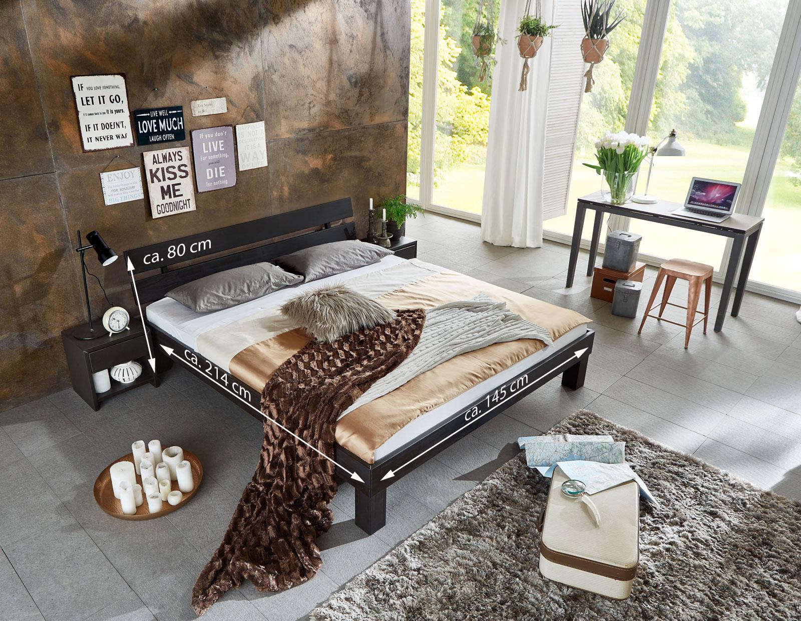 sam massivholzbett doppelbett buche wenge 140 x 200 cm julia demn chst. Black Bedroom Furniture Sets. Home Design Ideas