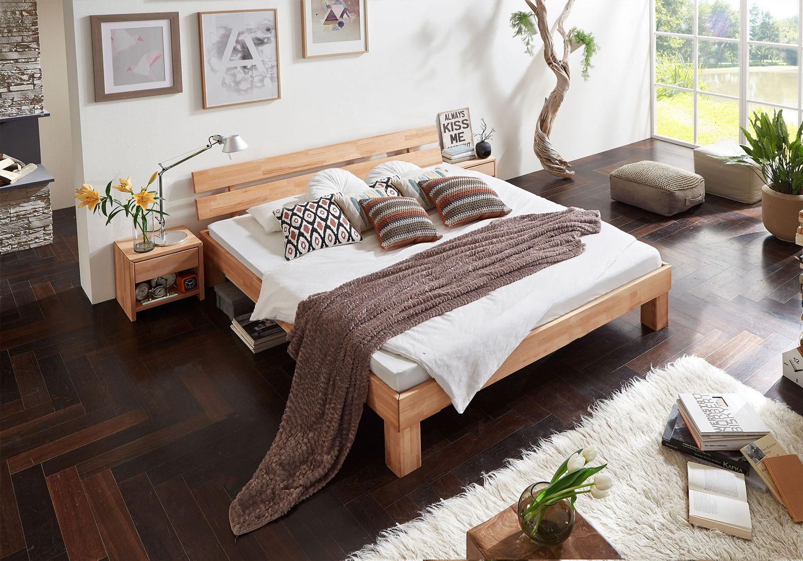 SAM® Massivholzbett Doppelbett in Kernbuche geölt 160 x 200 cm JULIA ...