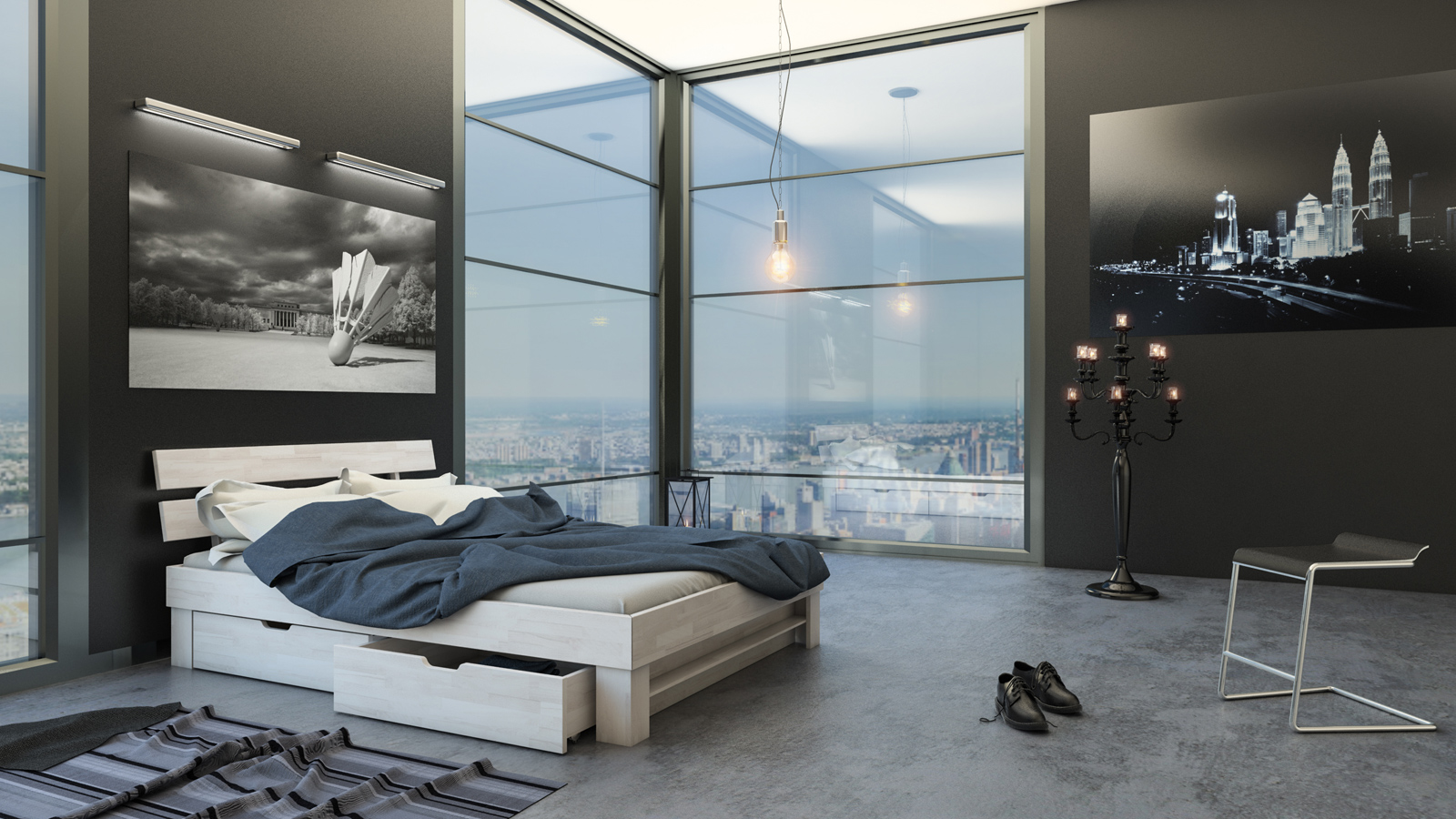 sam massivholzbett 140 x 200 cm buche wei mit bettk sten julia demn chst. Black Bedroom Furniture Sets. Home Design Ideas