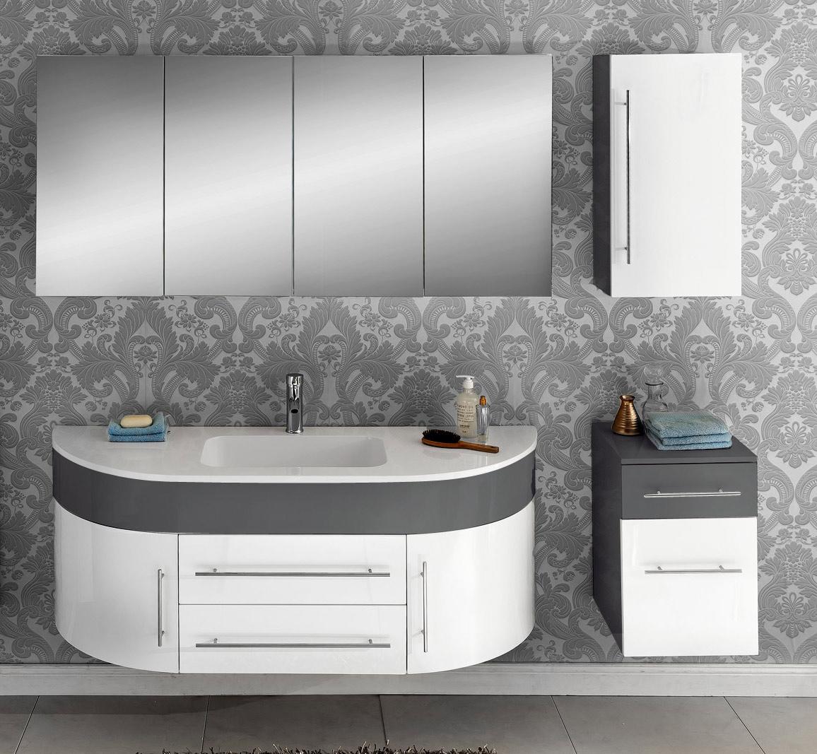 sam badm bel set 4tlg waschbecken 140 cm grau wei dublin demn chst. Black Bedroom Furniture Sets. Home Design Ideas