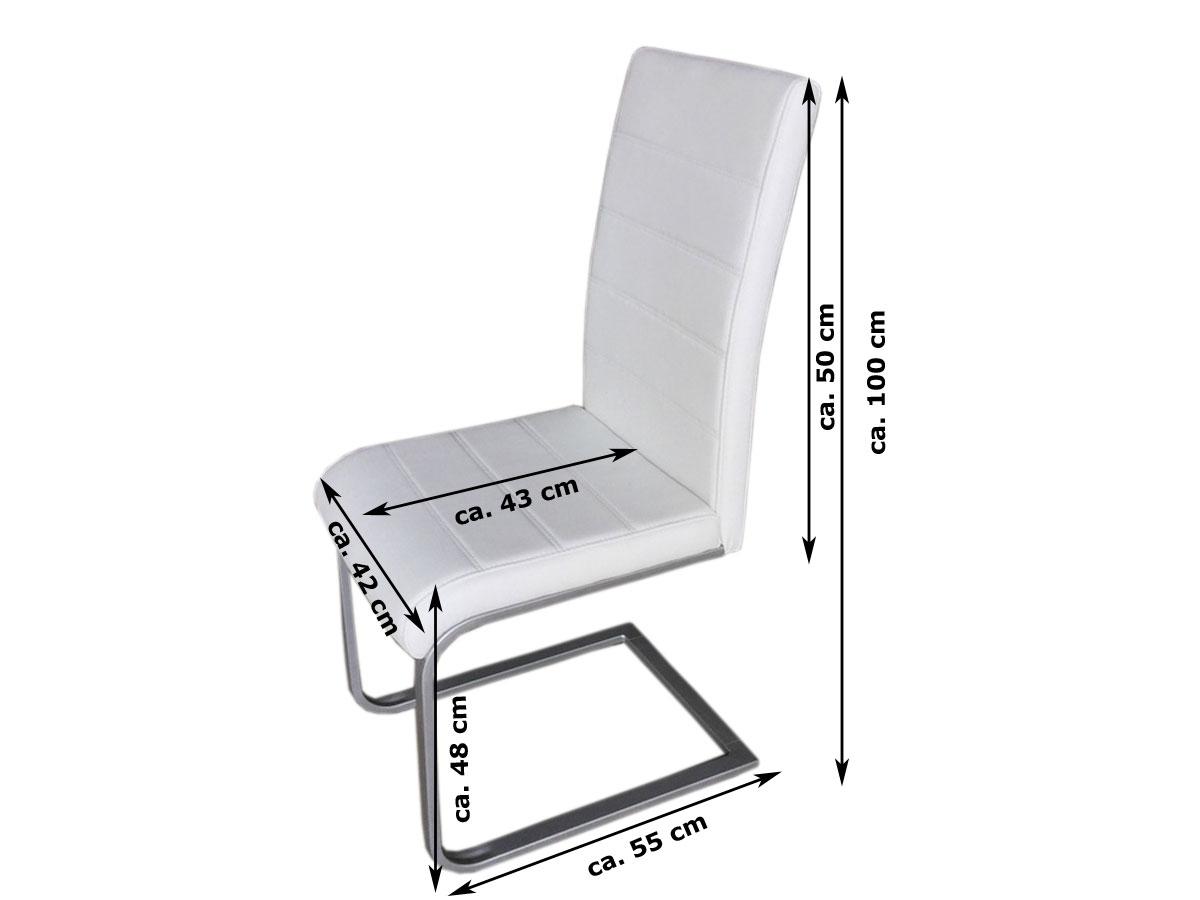 Sam freischwinger esszimmerstuhl in wei metallfarbene for Design stuhl freischwinger piet 30