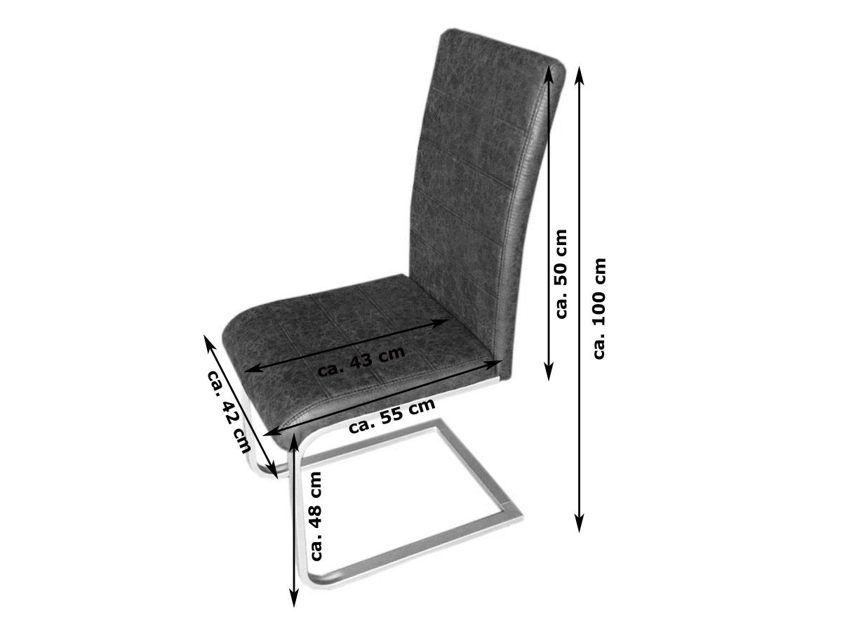 Sam freischwinger esszimmerstuhl in wildlederoptik for Design stuhl freischwinger piet 30