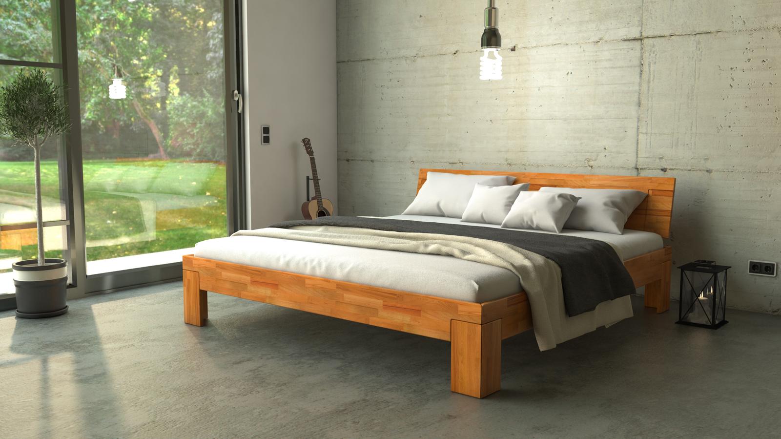 SAM® Massivholzbett Doppelbett in Buche geölt 200 x 200 cm SARA