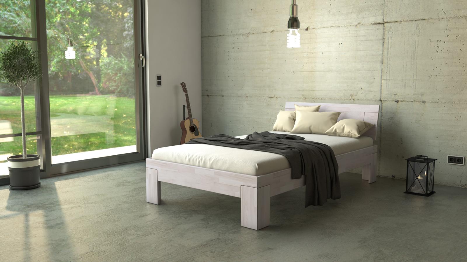 Wundervoll Einzelbett Weiß Ideen Von Sam® Massivholzbett Buche Weiß Lasiert 120 X