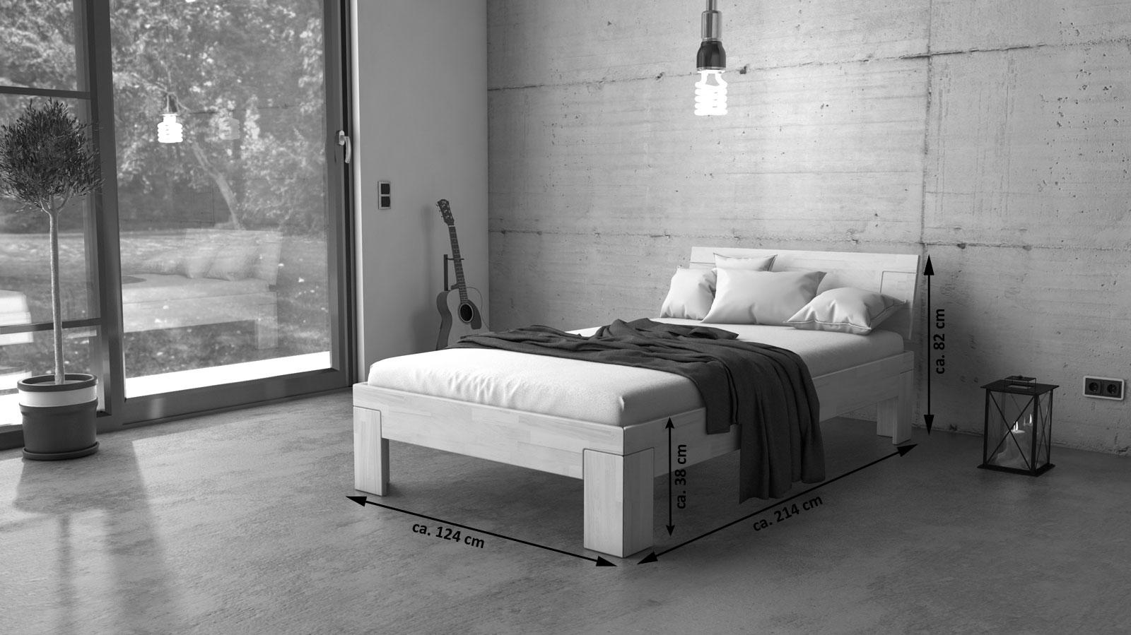 Einzelbett design  SAM® Massivholzbett Einzelbett Buche weiß lasiert 120 x 200 cm SARA