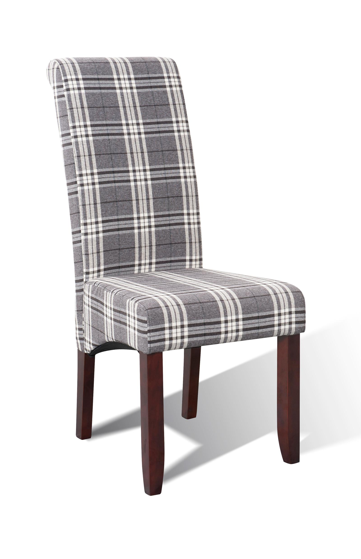 sam esszimmer stoff stuhl 4712 28 grau kariert kolonial. Black Bedroom Furniture Sets. Home Design Ideas