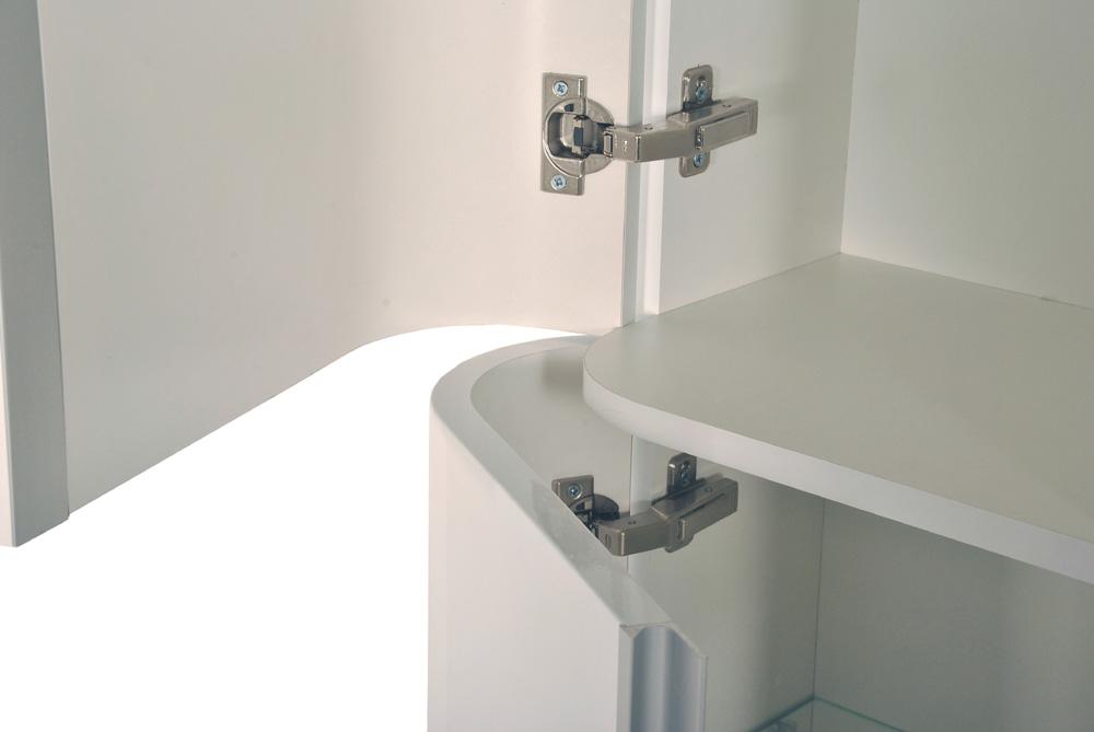 sam badm bel set 5tlg waschtisch 80 cm hochglanz wei feniks. Black Bedroom Furniture Sets. Home Design Ideas