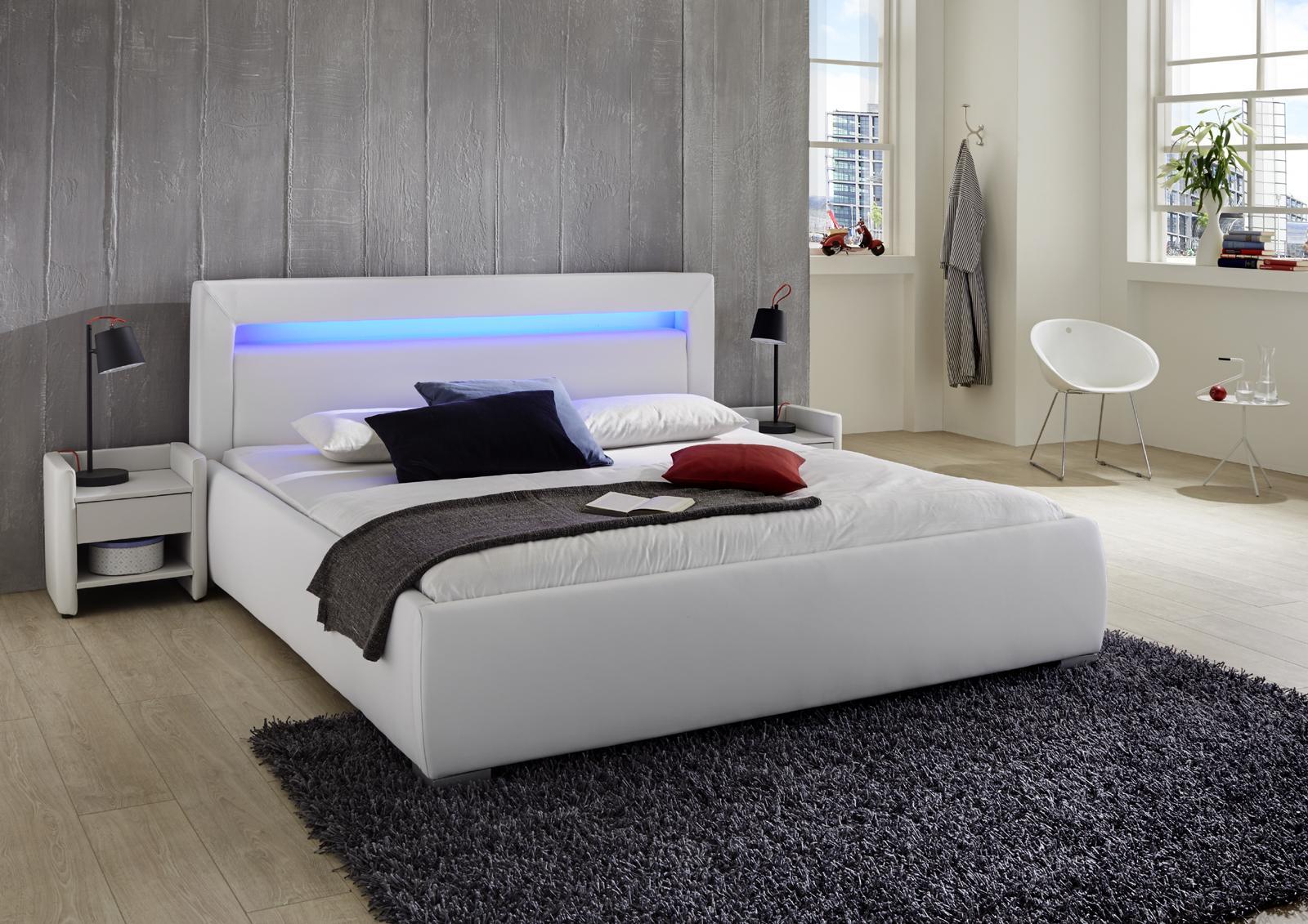 sam polsterbett 90 x 200 cm wei lumina g nstig. Black Bedroom Furniture Sets. Home Design Ideas