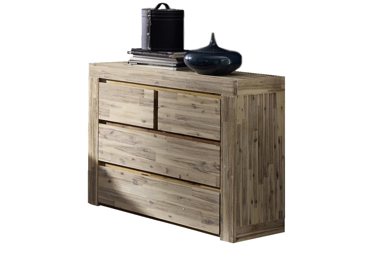 sam kommode massiv akazie lolita wei lasiert. Black Bedroom Furniture Sets. Home Design Ideas