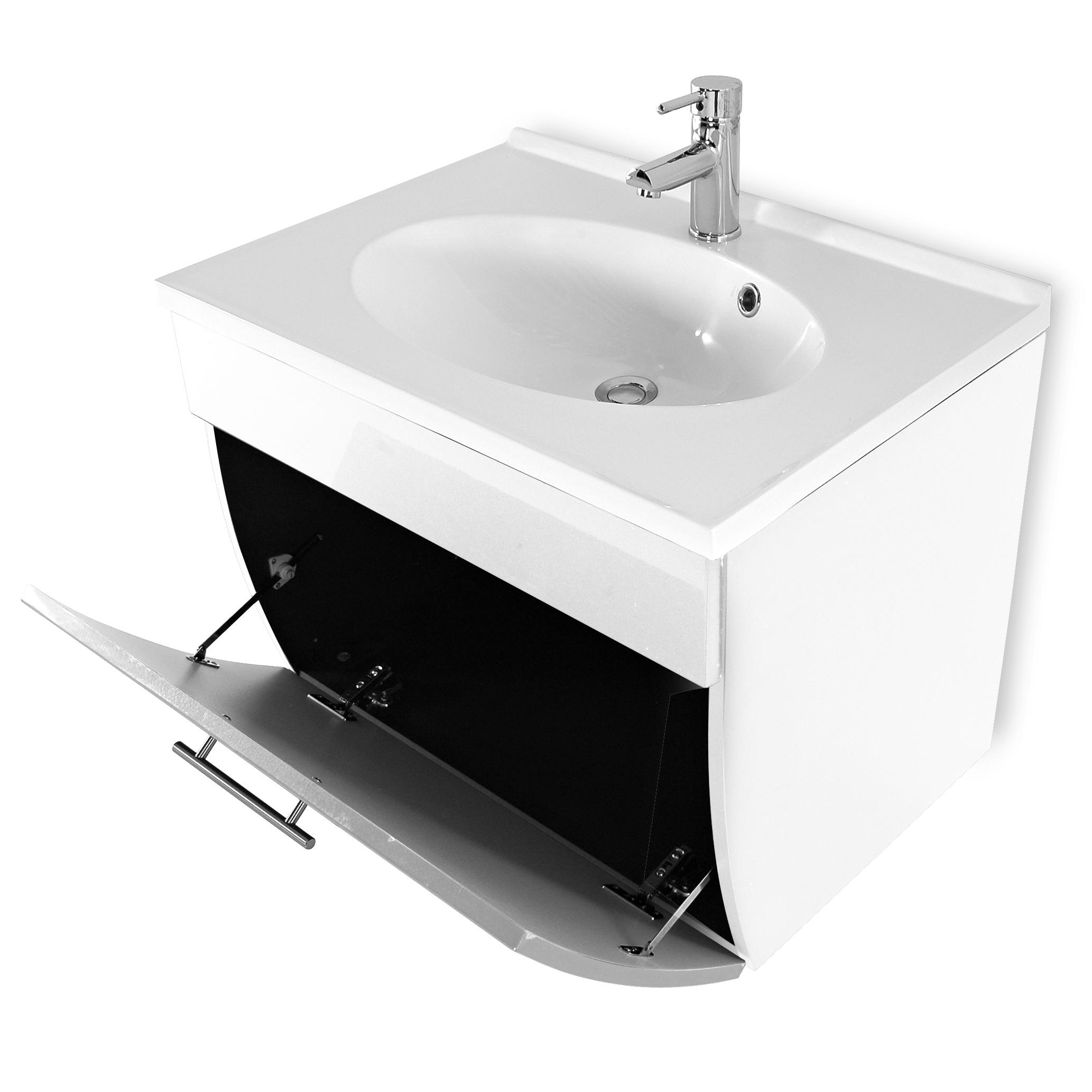 Sam badezimmer set santana 2tlg wei 70 cm beckenauswahl for Badezimmer 70 cm