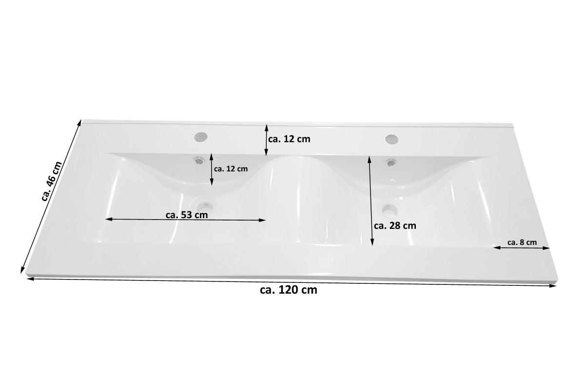 SAM® Doppelwaschtisch 120 cm Sonoma Eiche Holz 4tlg. VILLA Demnächst ! | {Seifenspender holz eiche 85}