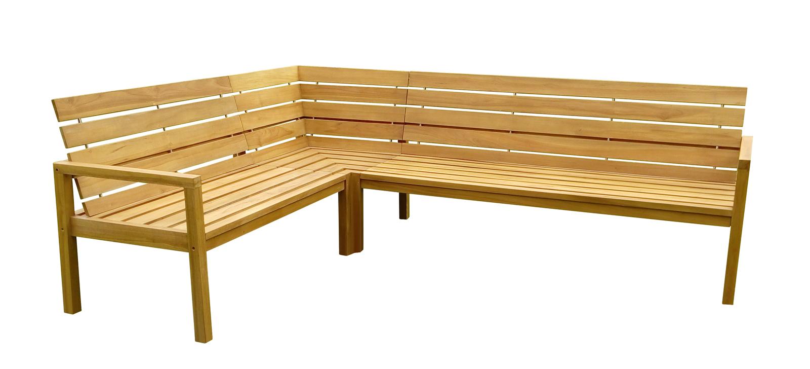 sam gartenbank eckbank teakholz 190 x 250 cm michel. Black Bedroom Furniture Sets. Home Design Ideas