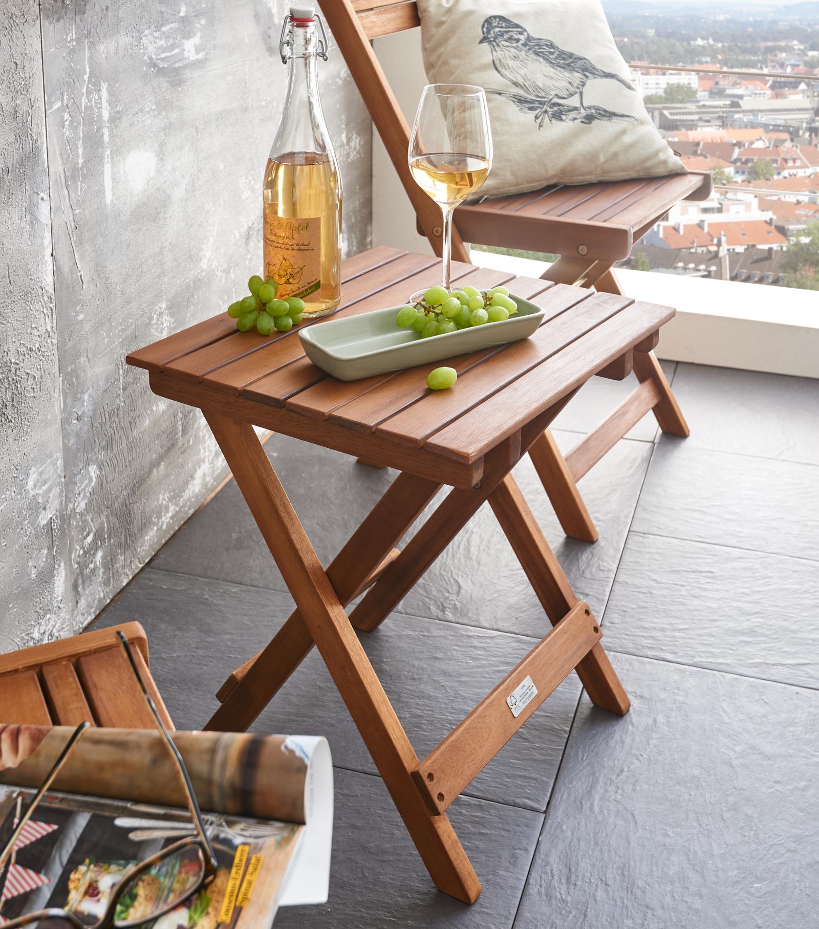 sam balkontisch beistelltisch aus akazie 44 x 39 cm fsc randers. Black Bedroom Furniture Sets. Home Design Ideas