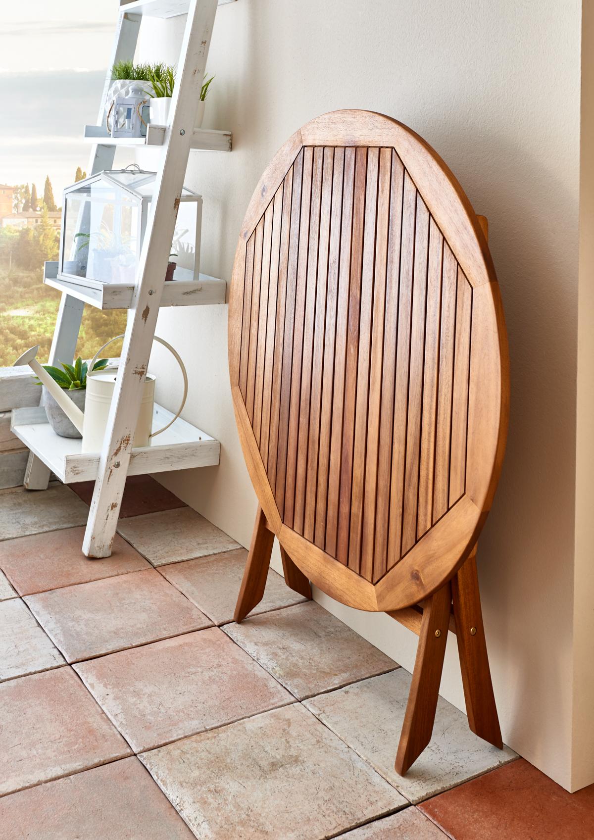 SAM® Gartenmöbel Set Akazie Tisch 100 cm rund FSC® GLADSAXE/FARSO