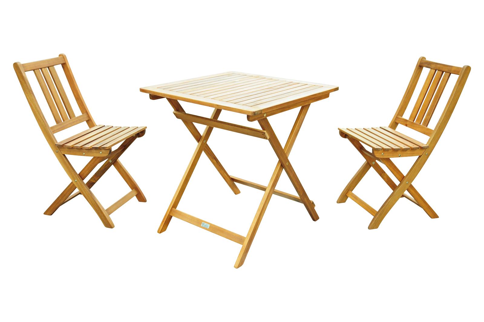 sam balkonm bel set 3tlg tisch 70 x 70 cm akazie viby farso demn chst. Black Bedroom Furniture Sets. Home Design Ideas