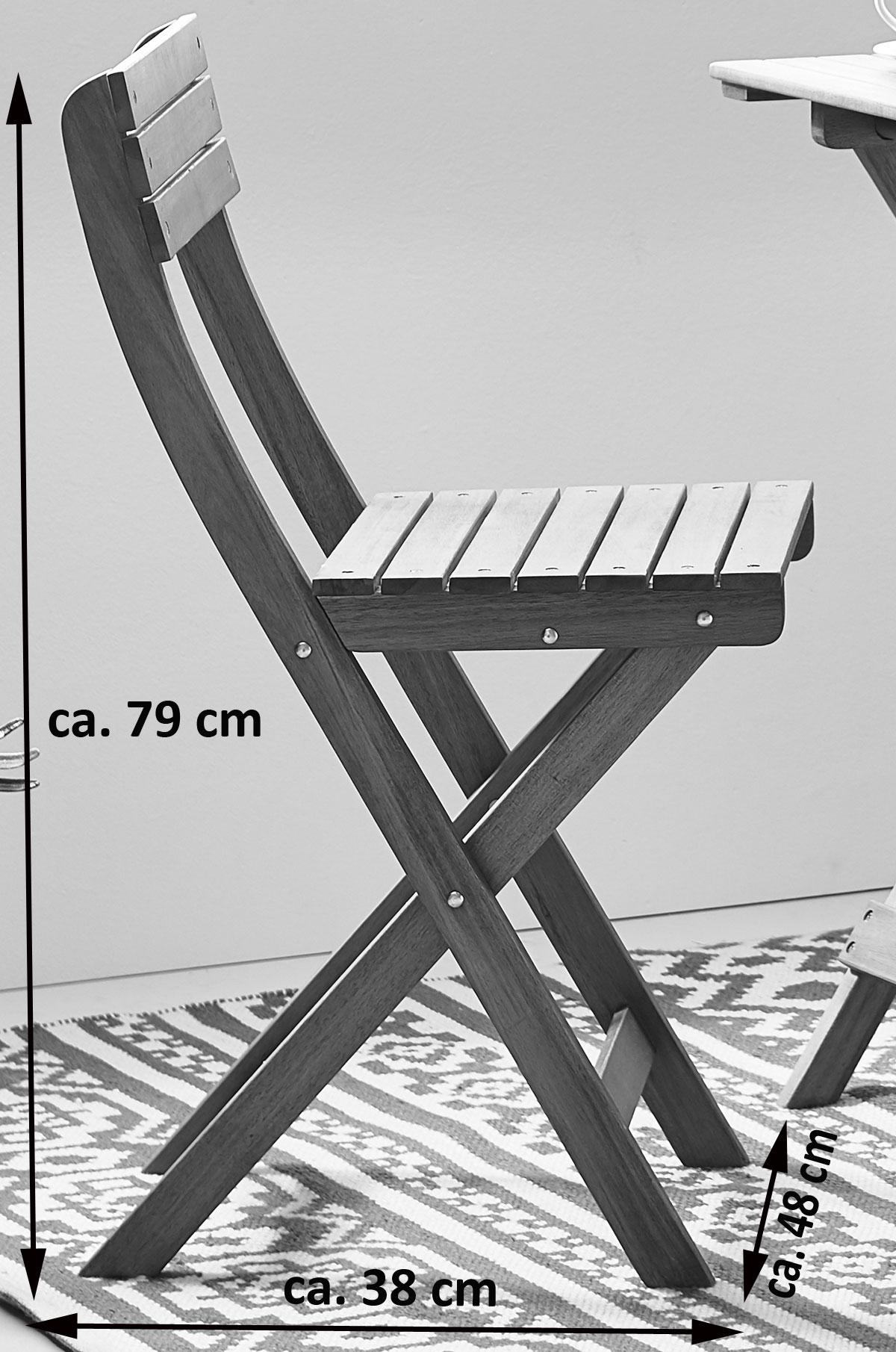sam balkonm bel set 3 tlg akazie tisch 60 x 60 cm. Black Bedroom Furniture Sets. Home Design Ideas