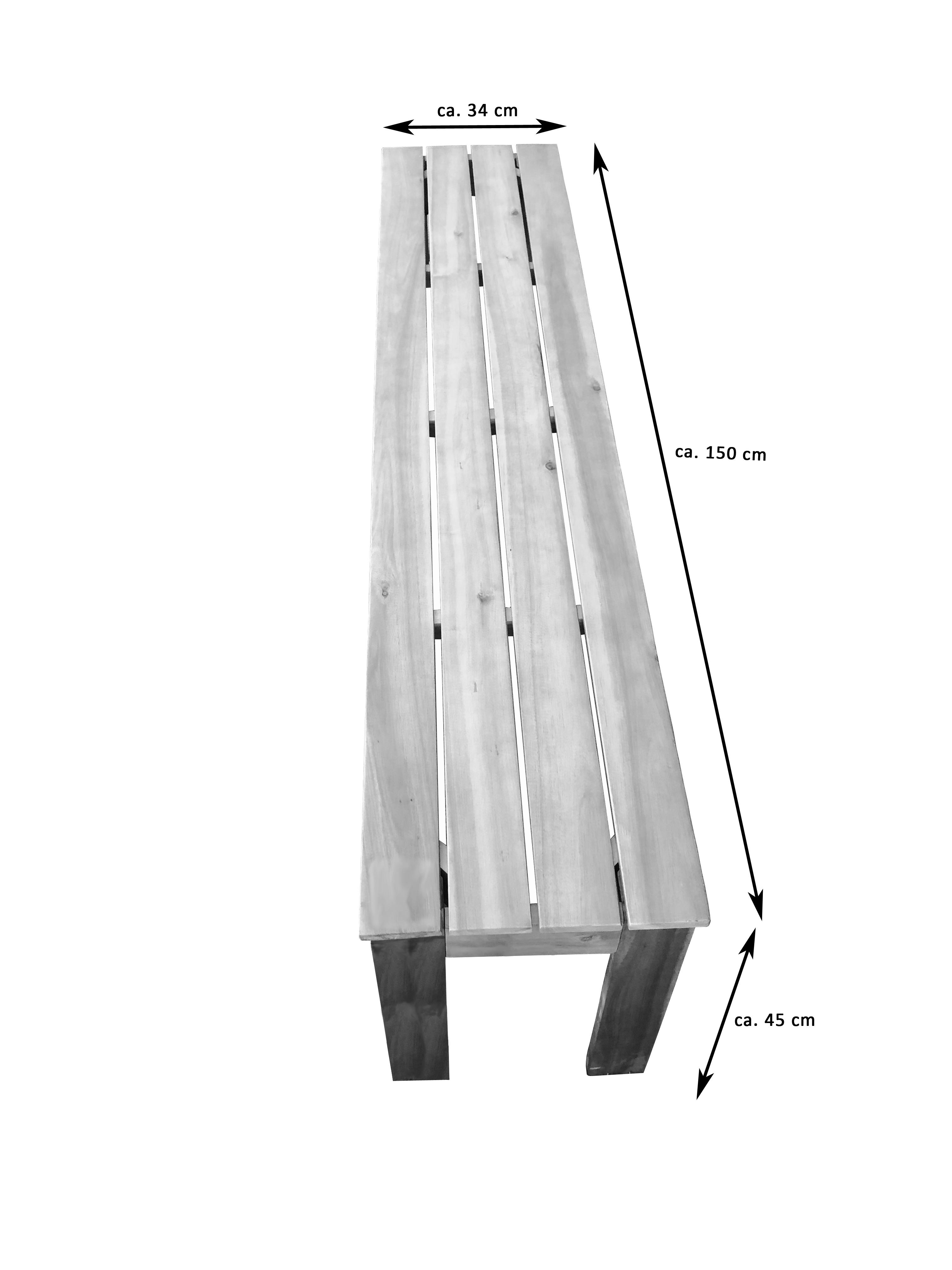 sam gartenbank sitzbank akazie 3 sitzer 150 cm elliott. Black Bedroom Furniture Sets. Home Design Ideas