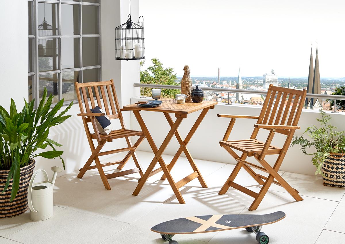 sam balkonm bel set akazie 3tgl balkontisch 60 x 60 cm ecuador demn chst. Black Bedroom Furniture Sets. Home Design Ideas