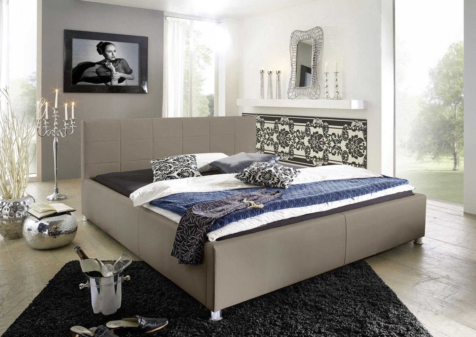 sam polsterbett 140 x 200 cm muddy doppelbett kira. Black Bedroom Furniture Sets. Home Design Ideas
