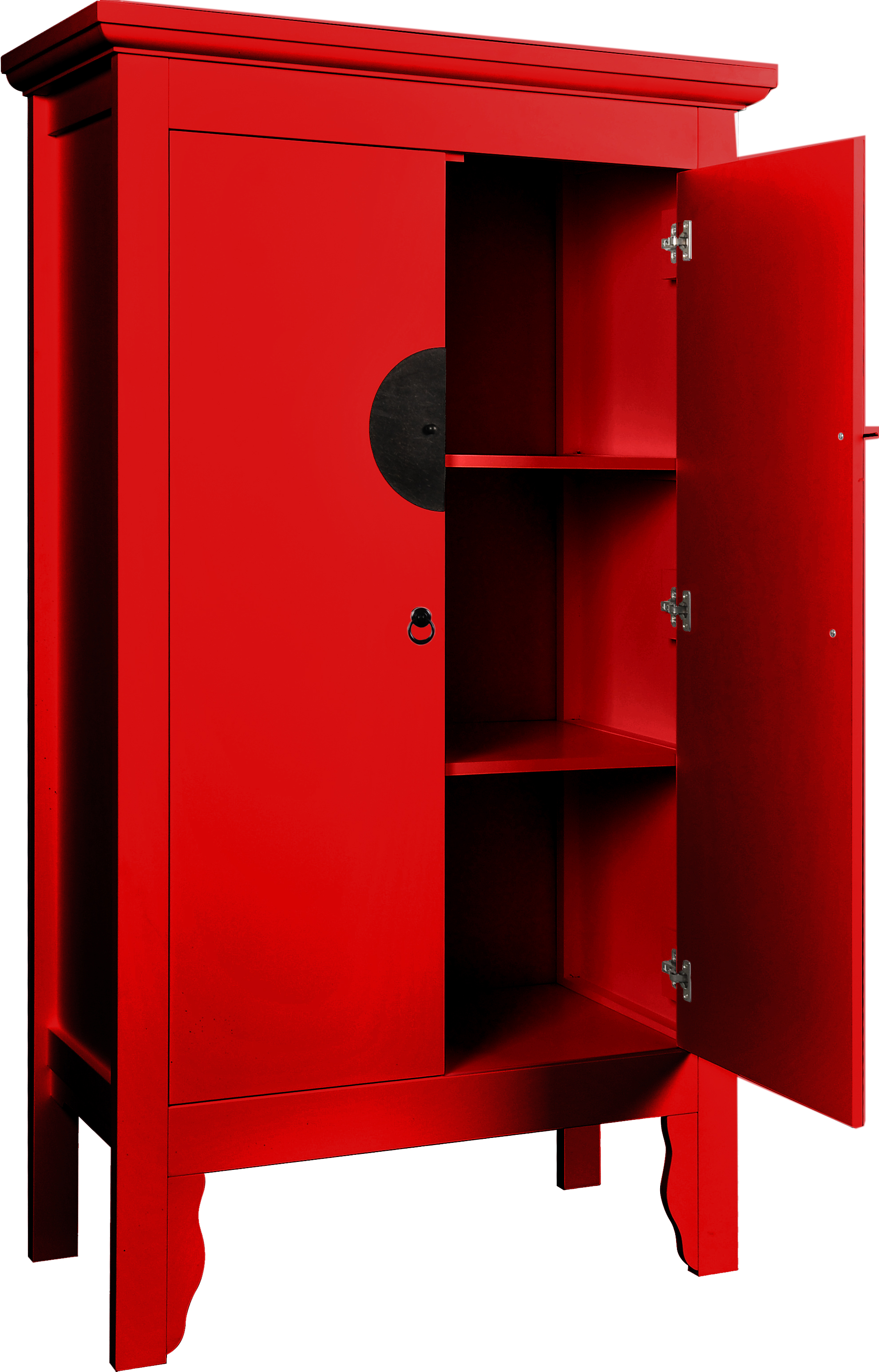 SAM® Schrank Hochzeitsschrank 100 x 180 cm Massivholz in rot