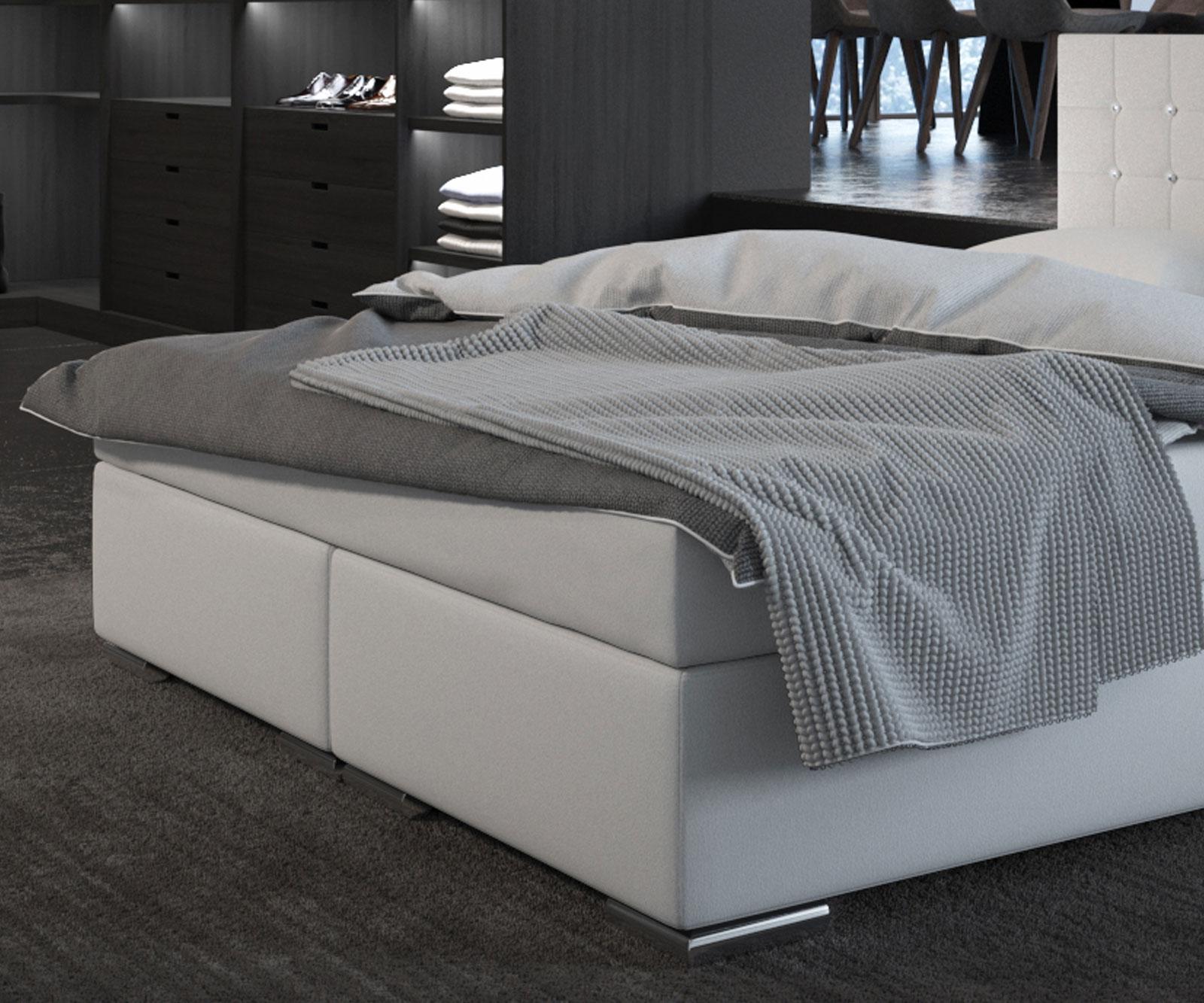 sam boxspringbett princess wei 180 x 200 cm doppelbett demn chst. Black Bedroom Furniture Sets. Home Design Ideas