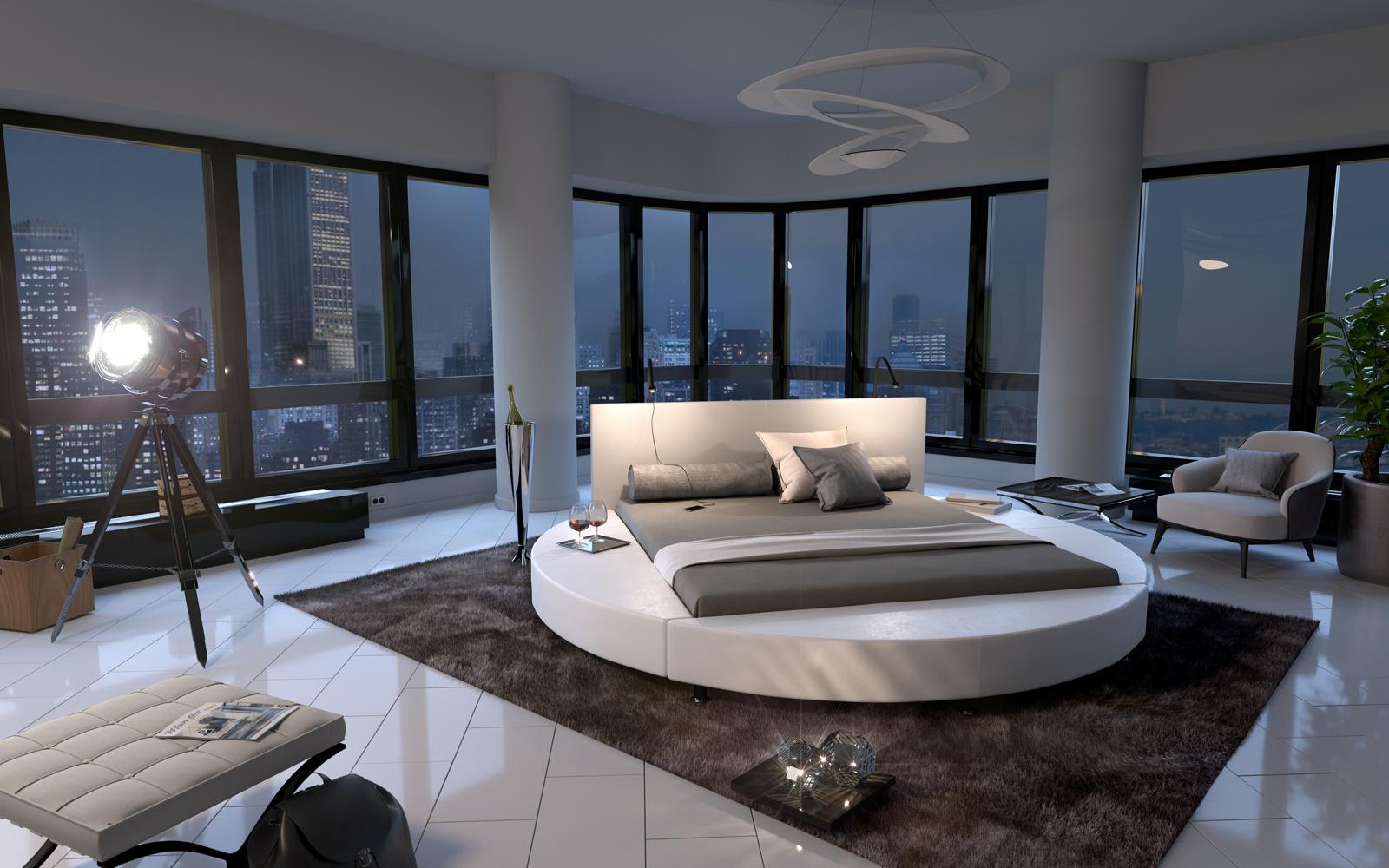 sam rundbett hotelbett 140 x 200 cm wei gaston. Black Bedroom Furniture Sets. Home Design Ideas