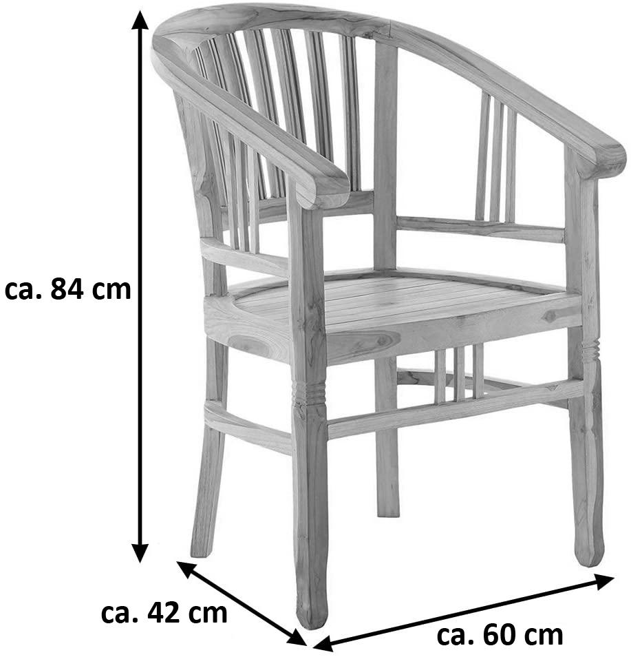 Sam Teak Gartenmöbel Set 5tlg Tisch 120 170 Cm Borneomoreno