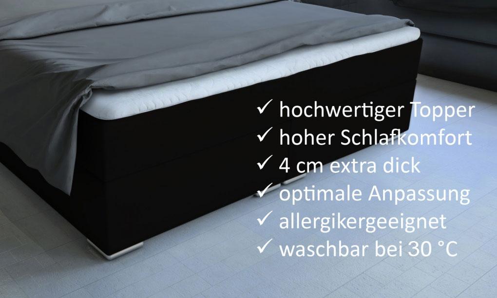 sam® boxspringbett hotelbett led 180 x 200 cm schwarz arizona, Hause deko