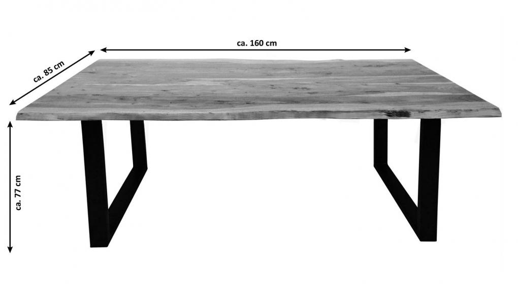 Sam esstisch baumkante akazie nussbaum 160 x 85 cm for Schrank fa r terrasse