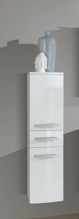 Sam 5tlg badezimmer set hochglanz wei 90 cm genf for Badezimmer 90 cm