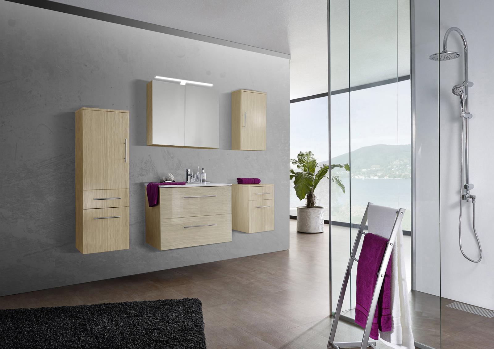 Sam 5tlg badezimmer set sonomaeiche 80 cm verena demn chst - Badezimmer set ...