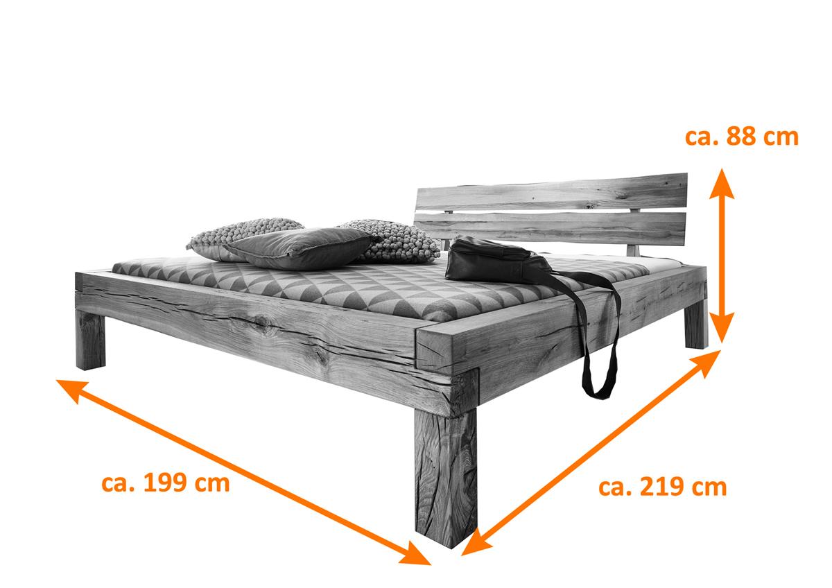 Balkenbett fichte  SAM® Balkenbett Holzbett Fichte eichefarben geölt 180 x 200 cm Svenja
