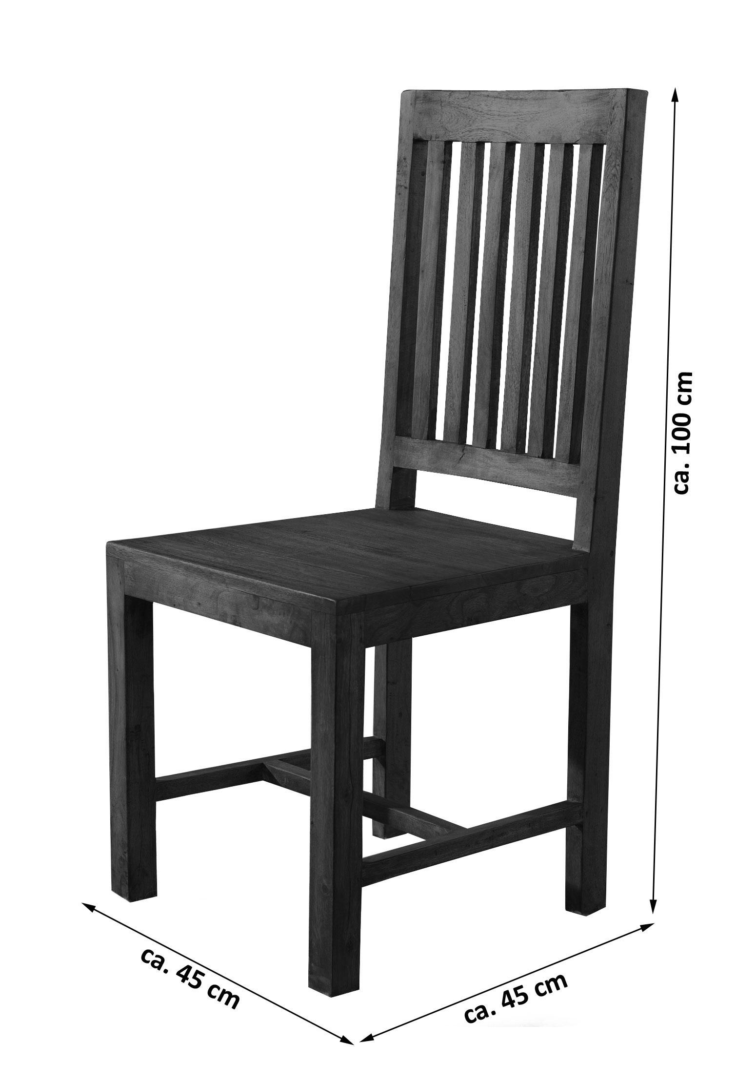 sale stuhl esszimmerstuhl akazie tabak timber 6611. Black Bedroom Furniture Sets. Home Design Ideas