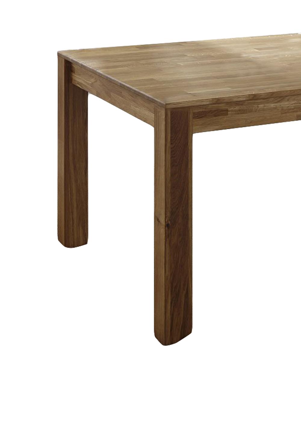 Sale Esstisch Massivholz Eiche 160 X 90 Cm Holztisch Elli