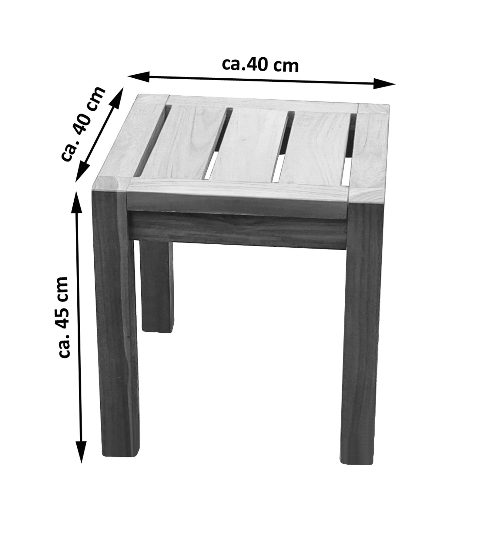 sale teak hocker gartenhocker 40 x 40 cm michel. Black Bedroom Furniture Sets. Home Design Ideas