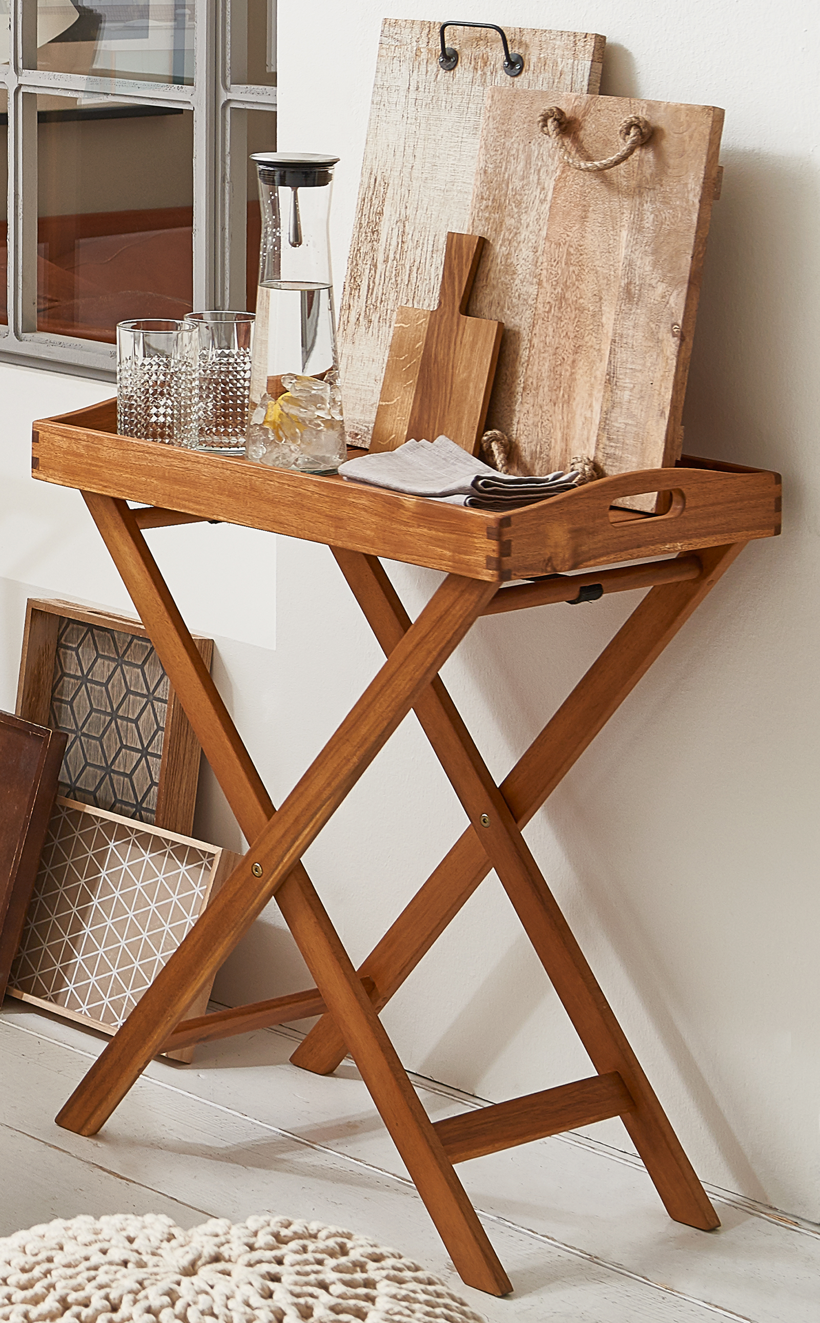 sale beistelltisch terrasse garten aus akazie fsc luis. Black Bedroom Furniture Sets. Home Design Ideas