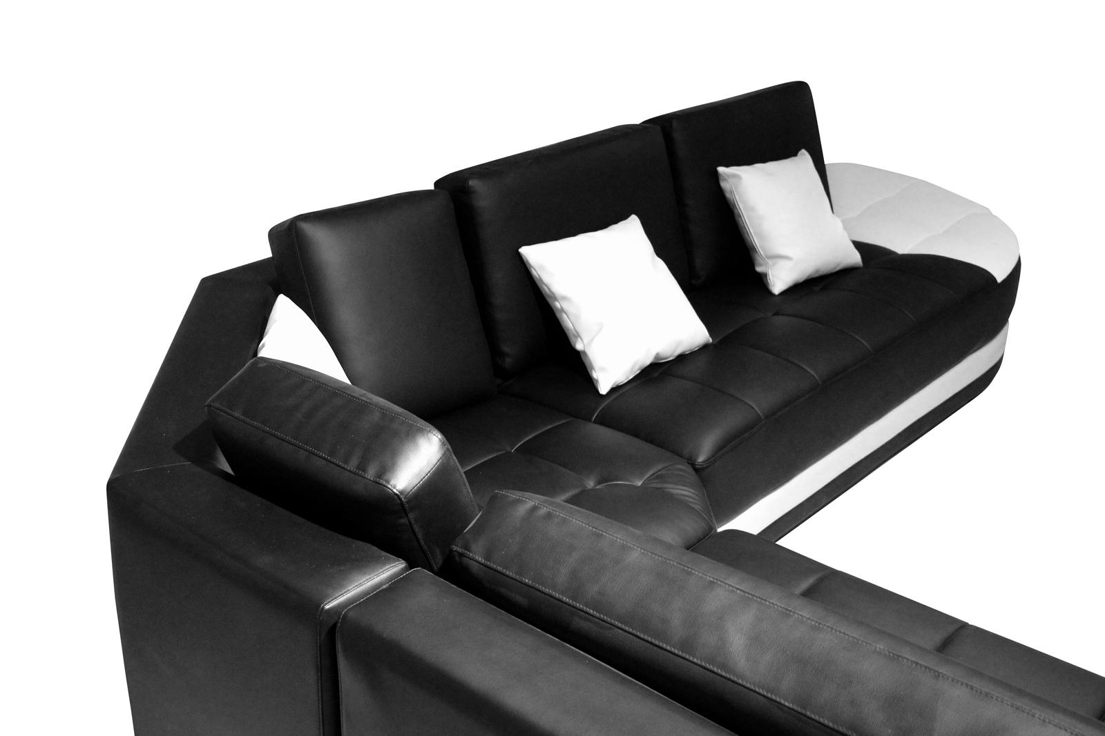 Sale Sofa Wohnlandschaft Ecksofa Schwarz Weiss Glorianna