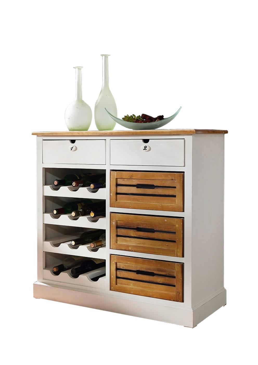 sale weinregal kommode paulowniaholz wei paris v. Black Bedroom Furniture Sets. Home Design Ideas