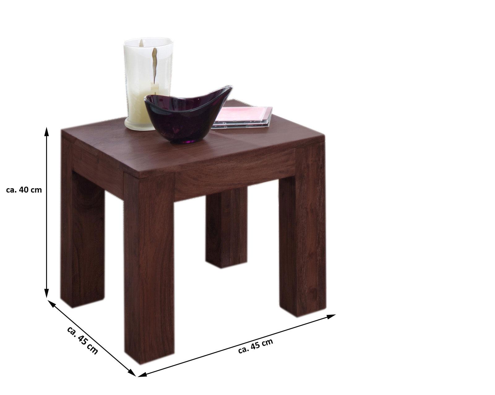 Sale Couchtisch Akazie Massiv Tabak 45 X 40 X 45 Cm Timber 6613