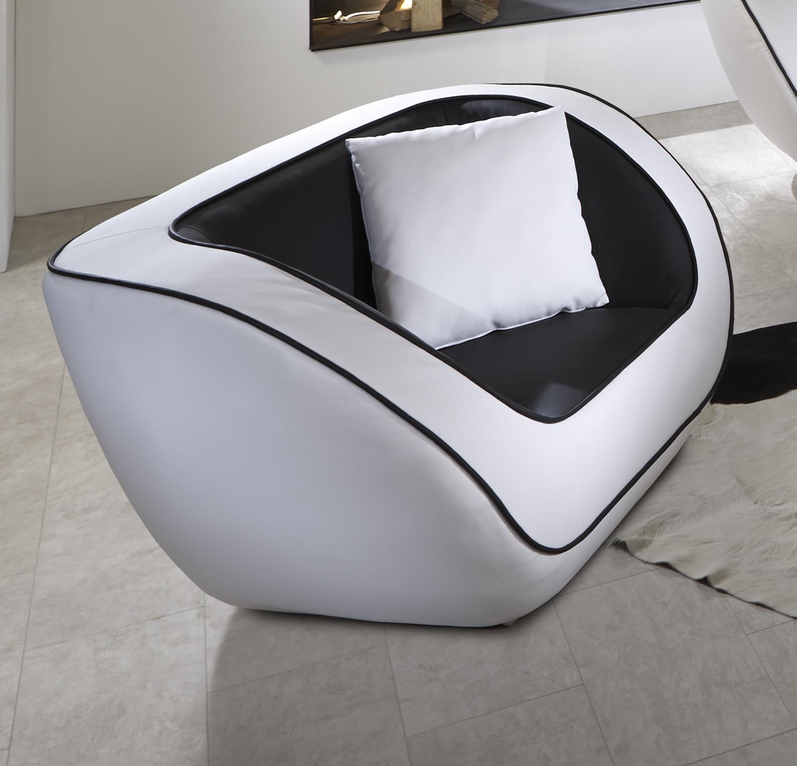 Lounge sessel schwarz weiß  SALE Lounge Sessel in schwarz weiß Navarra günstig