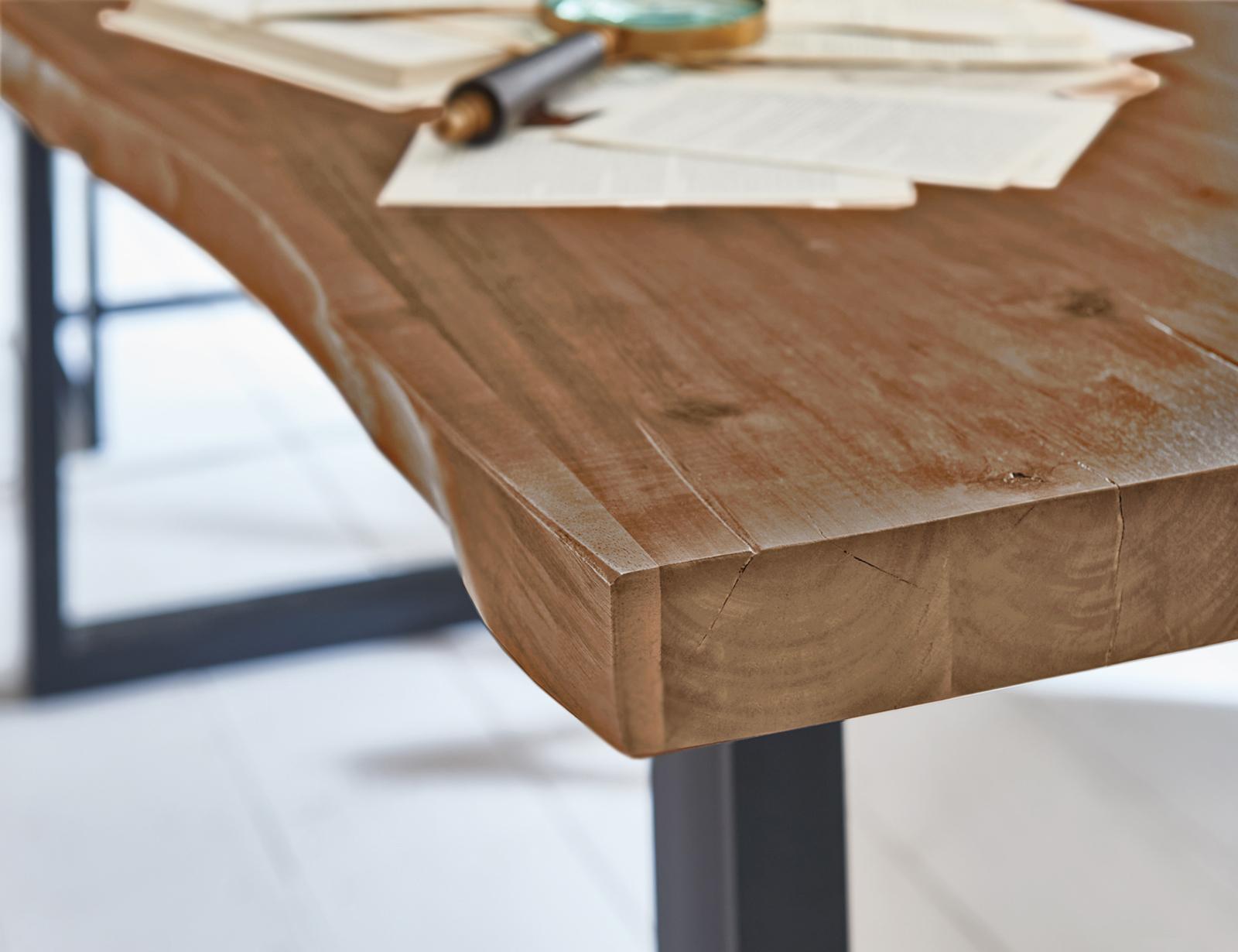 Sam Baumkantentisch Esszimmer Tisch 160 Cm Massiv Akazie Milo