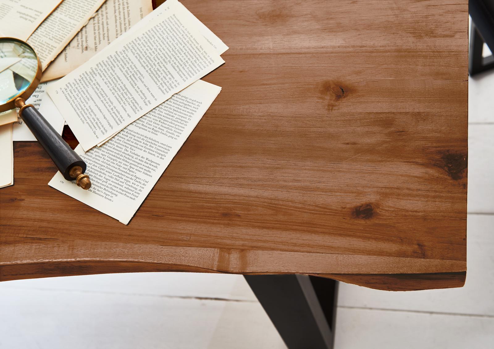 Unglaublich Tisch Esszimmer Foto Von Sam® Baumkantentisch 160 Cm Massiv Akazie Milo