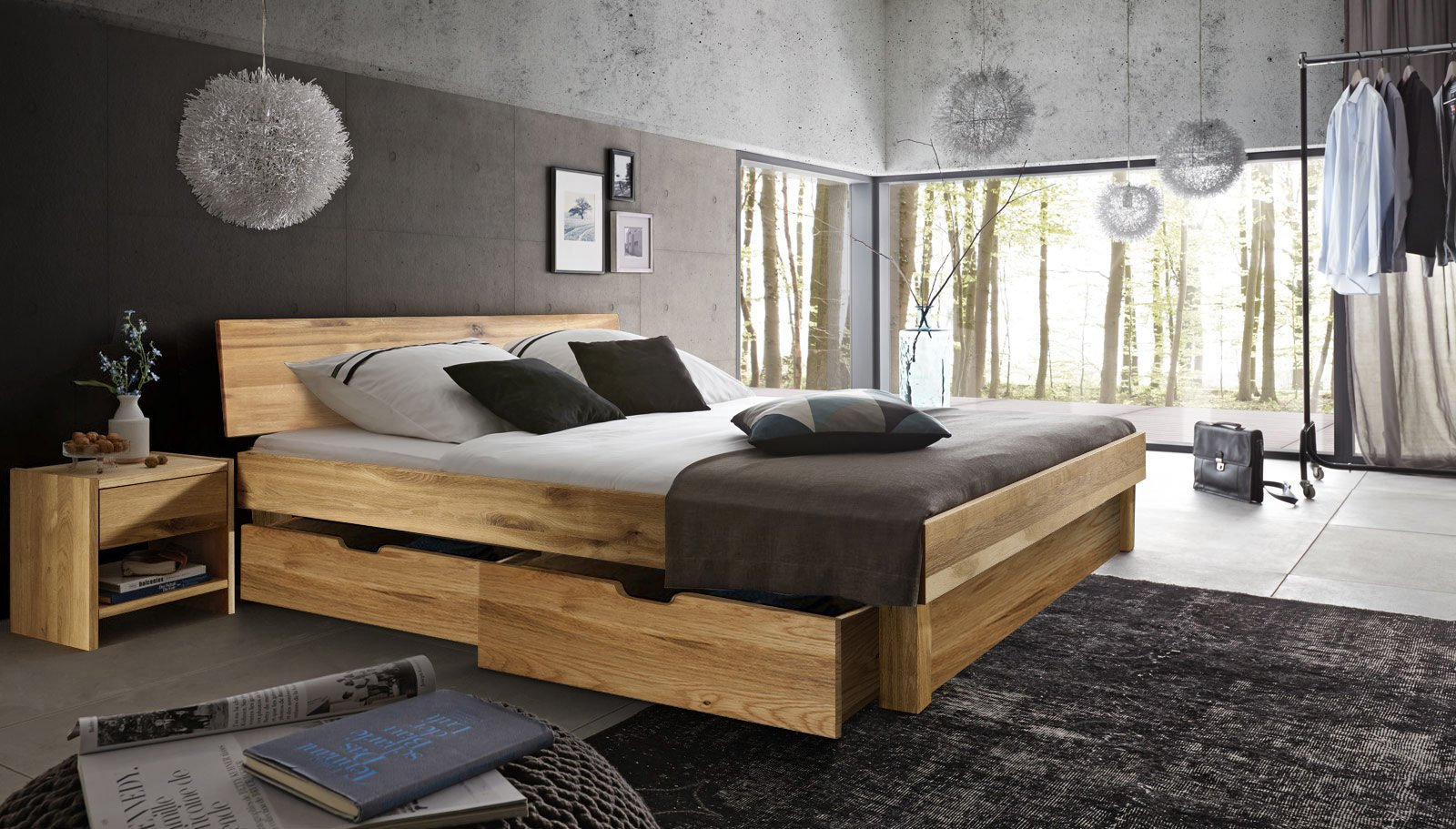 sam massivholzbett 180x200 wildeiche bettkasten holzbett campus demn chst. Black Bedroom Furniture Sets. Home Design Ideas