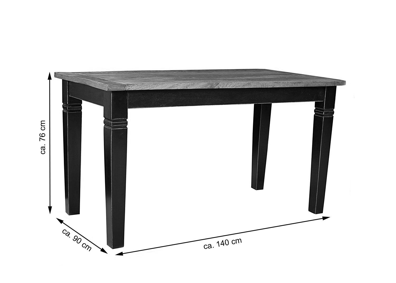 SAM® Esstisch Massivholz 140 x 90 cm Holztisch Mangoholz CORIN