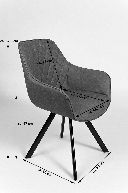 Amüsant Armlehnstuhl Grau Sammlung Von Sam® Esszimmer Schwarze Metallbeine Alina Auf Lager