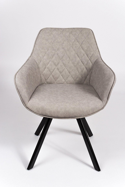 sam esszimmer armlehnstuhl grau schwarze metallbeine alina. Black Bedroom Furniture Sets. Home Design Ideas