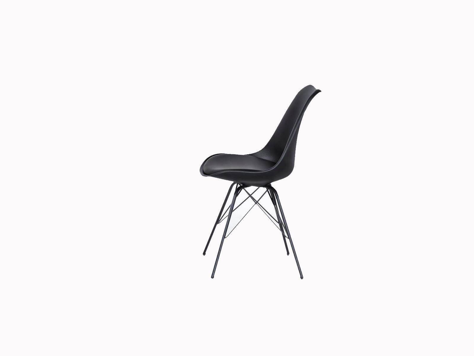 Sam esszimmerstuhl schalenstuhl in schwarz mit for Schalenstuhl schwarz